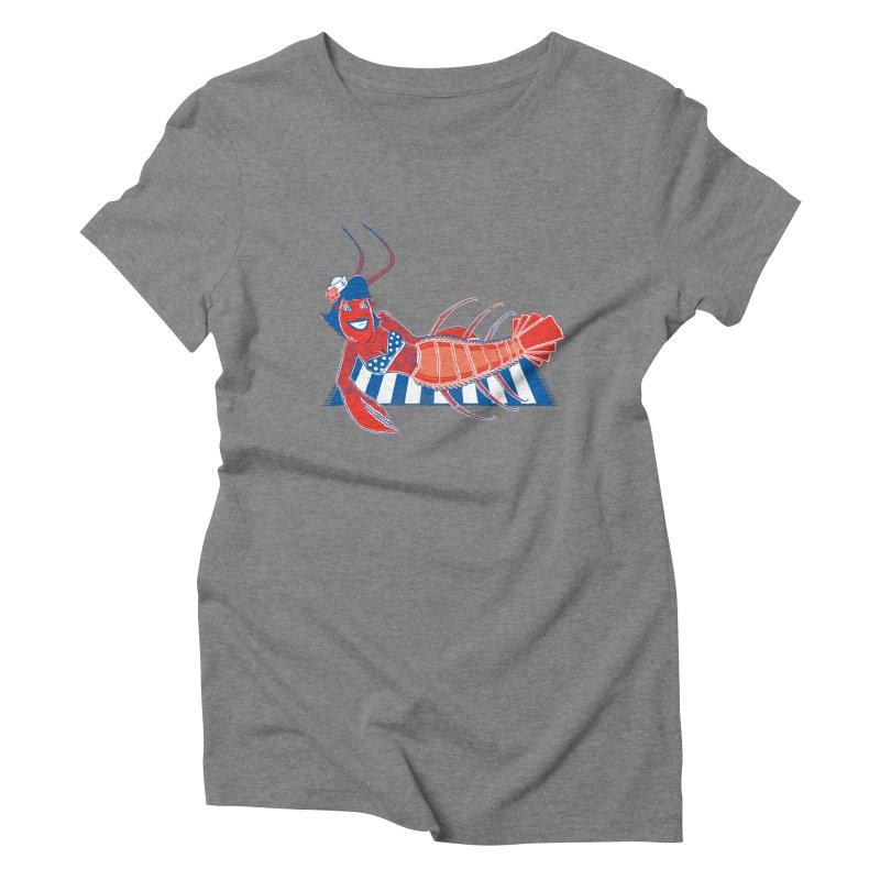 Rockabilly Lobster Women's Triblend T-Shirt by John D-C