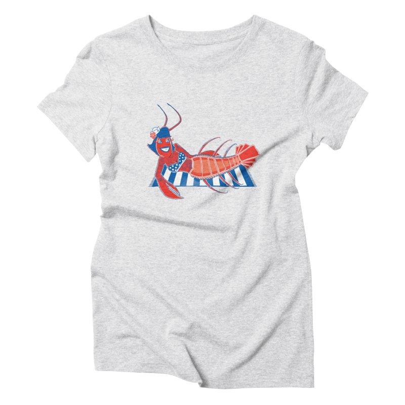 Rockabilly Lobster Women's Triblend T-Shirt by John D-C's Artist Shop