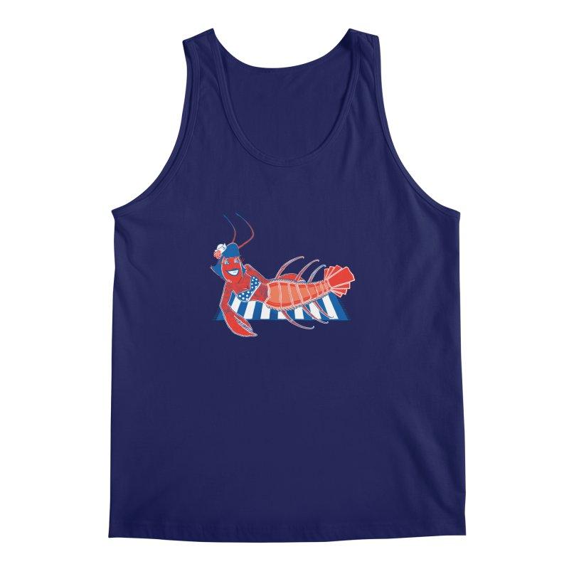 Rockabilly Lobster Men's Regular Tank by John D-C