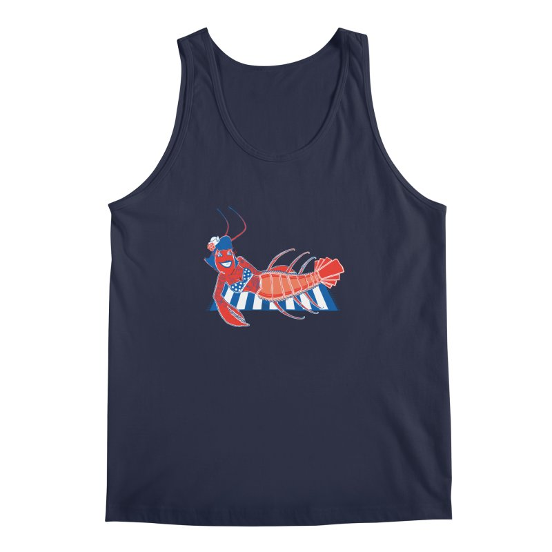 Rockabilly Lobster Men's Regular Tank by John D-C