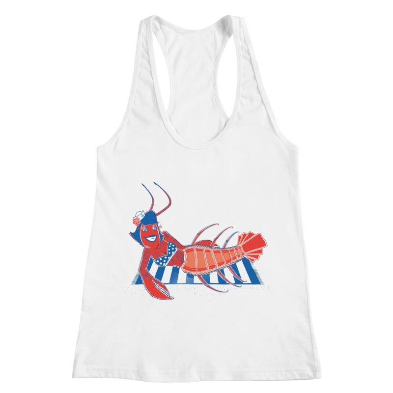 Rockabilly Lobster Women's Racerback Tank by John D-C