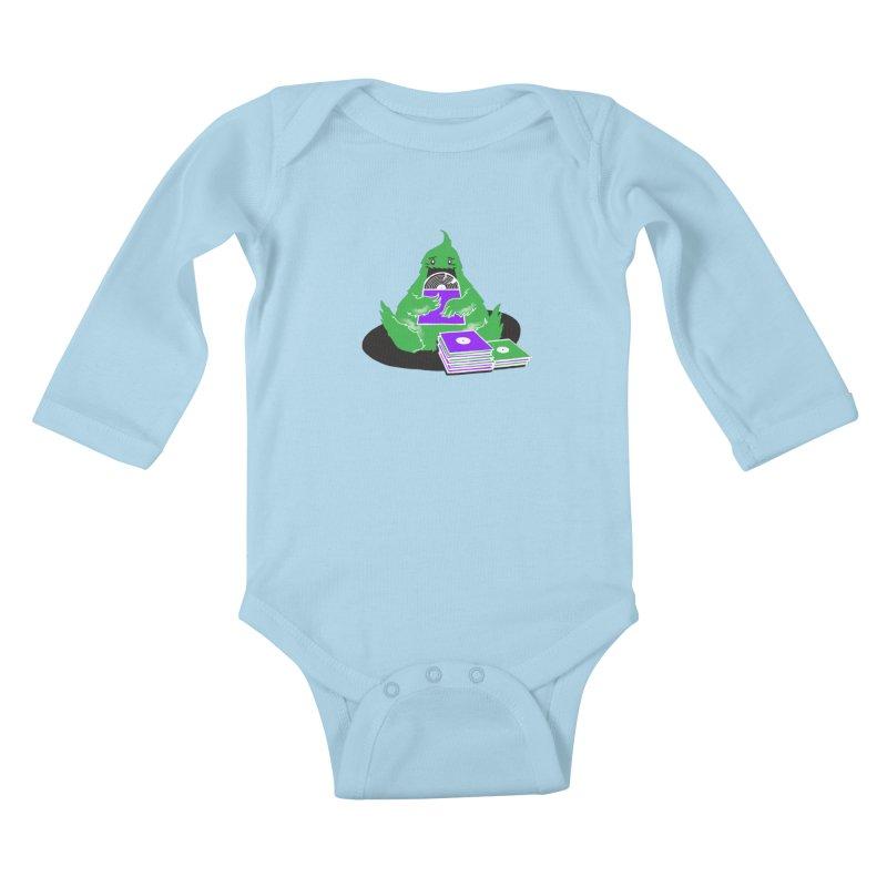 Fuzzy Has Good Taste! Kids Baby Longsleeve Bodysuit by John D-C