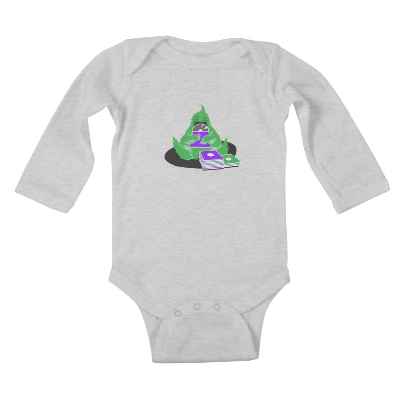 Fuzzy Has Good Taste! Kids Baby Longsleeve Bodysuit by John D-C's Artist Shop