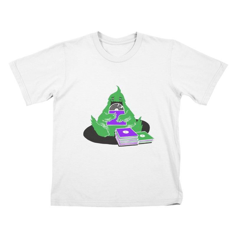 Fuzzy Has Good Taste! Kids T-Shirt by John D-C's Artist Shop
