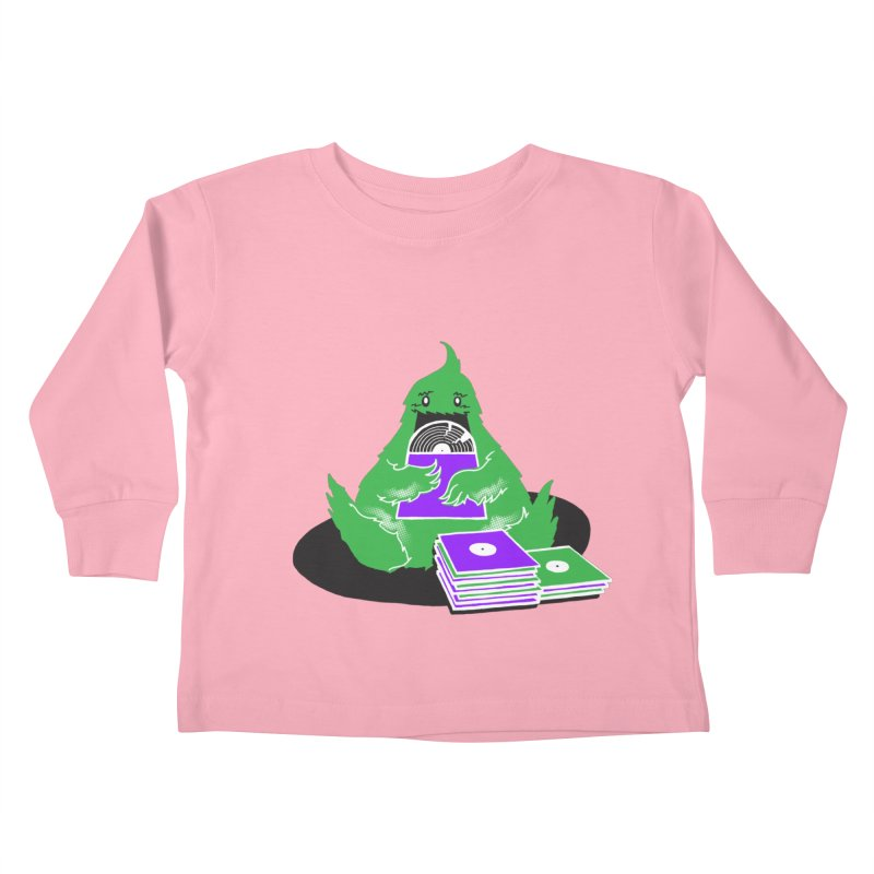 Fuzzy Has Good Taste! Kids Toddler Longsleeve T-Shirt by John D-C's Artist Shop