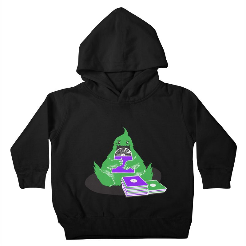 Fuzzy Has Good Taste! Kids Toddler Pullover Hoody by John D-C's Artist Shop