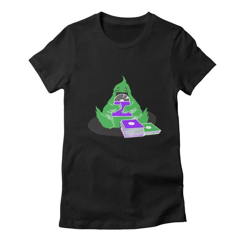 Fuzzy Has Good Taste! Women's Fitted T-Shirt by John D-C