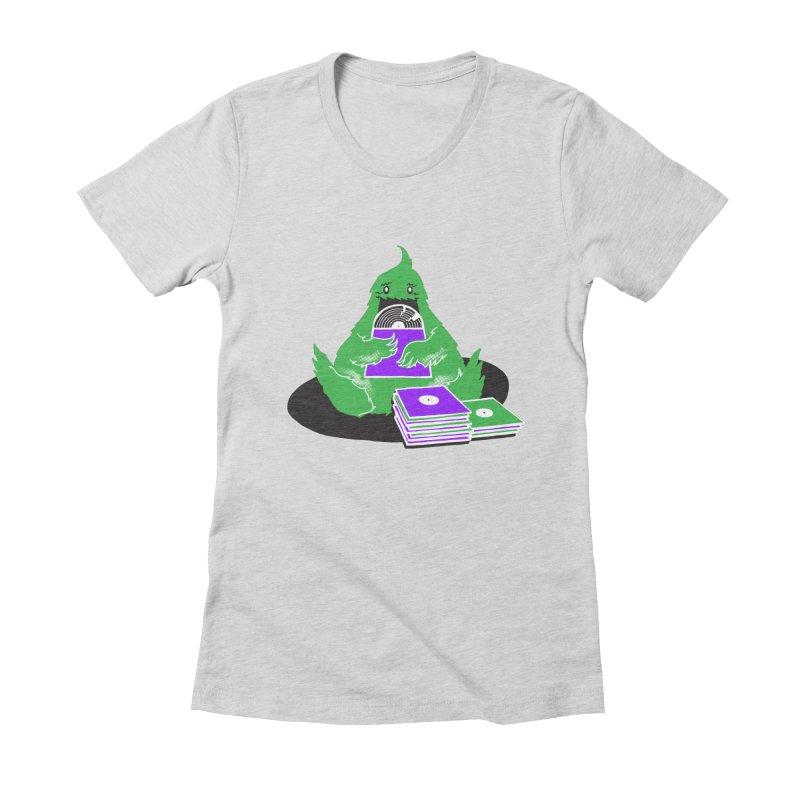 Fuzzy Has Good Taste! Women's Fitted T-Shirt by John D-C's Artist Shop