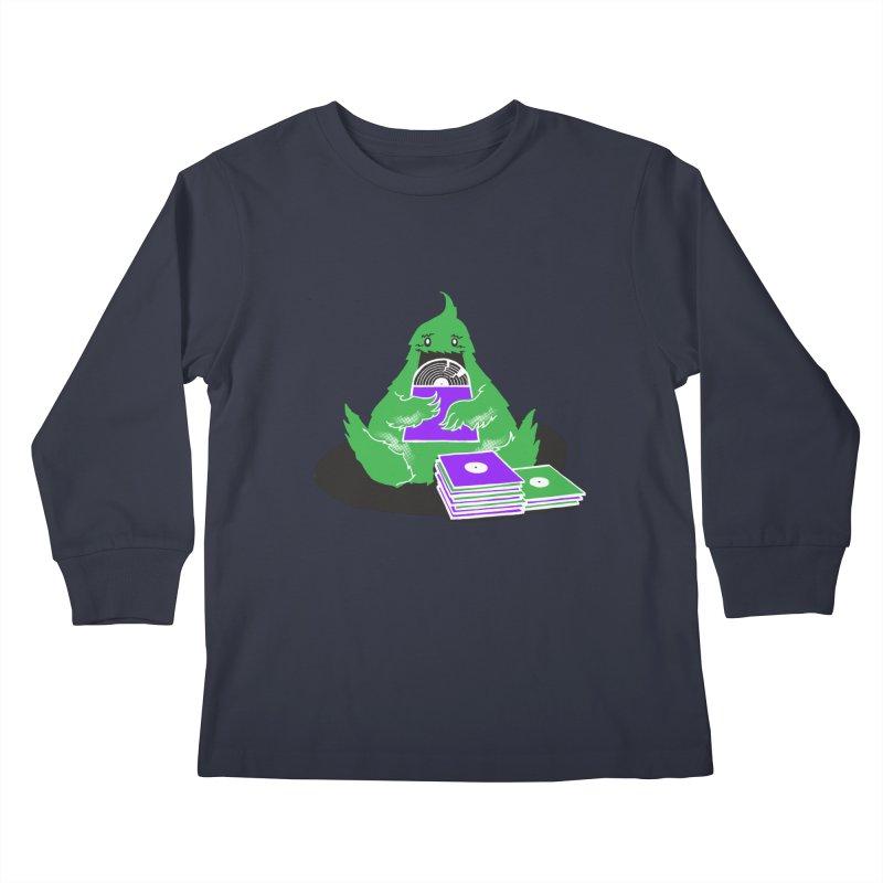 Fuzzy Has Good Taste! Kids Longsleeve T-Shirt by John D-C