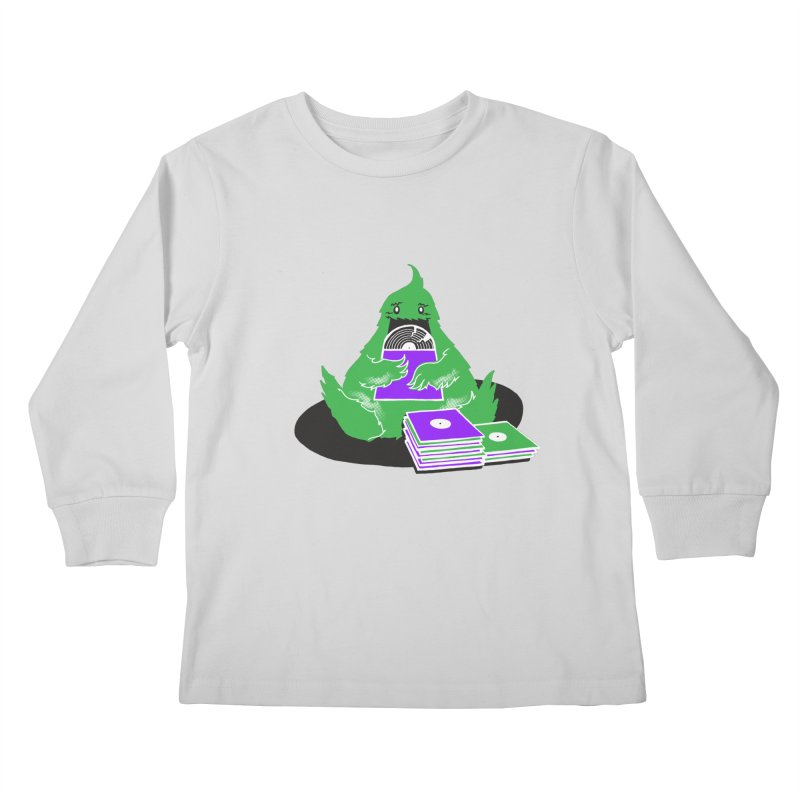 Fuzzy Has Good Taste! Kids Longsleeve T-Shirt by John D-C's Artist Shop