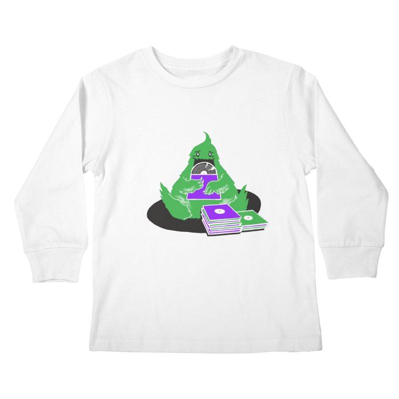 Fuzzy Has Good Taste! Kids Longsleeve T-Shirt by John D-C's Artist Shop