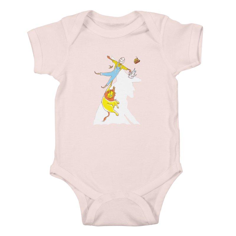 Home! Kids Baby Bodysuit by John D-C's Artist Shop