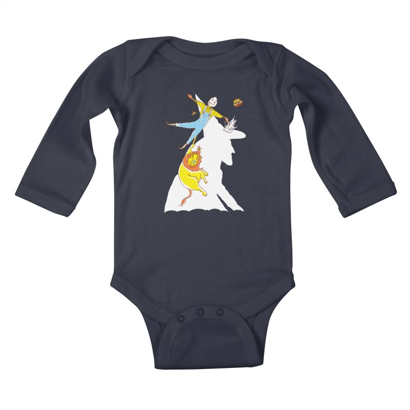 Home! Kids Baby Longsleeve Bodysuit by John D-C's Artist Shop