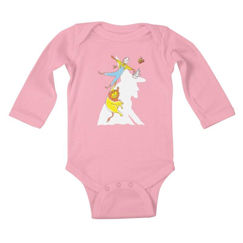 Home! Kids Baby Longsleeve Bodysuit by John D-C's Artist Shop