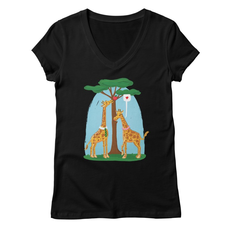 Naturally Selected! Women's V-Neck by John D-C's Artist Shop