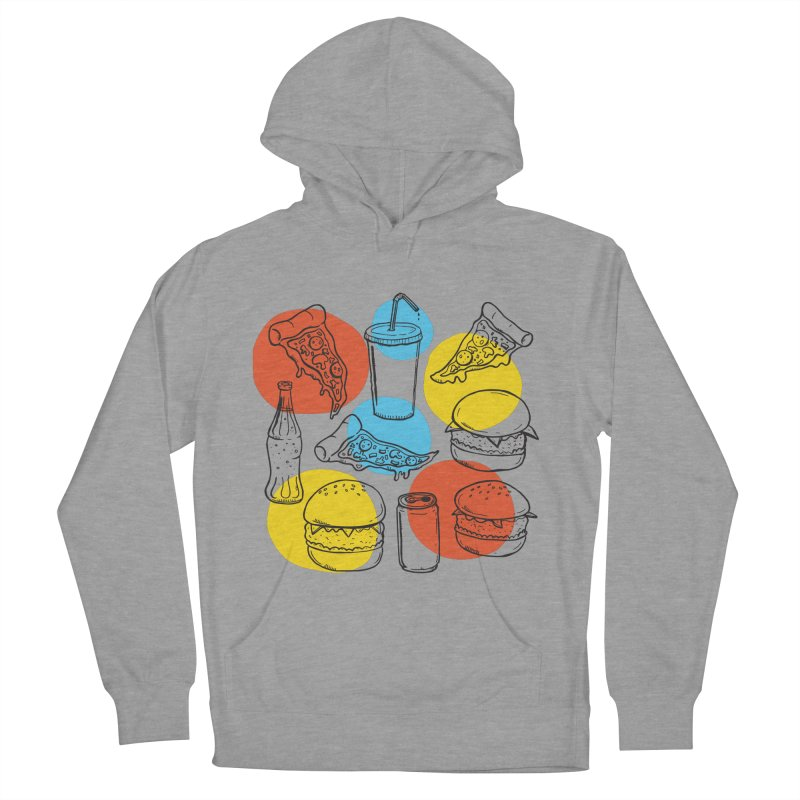 Fast Food Men's French Terry Pullover Hoody by John D-C's Artist Shop