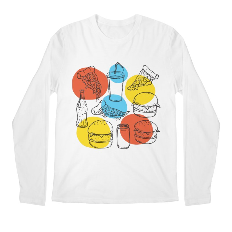 Fast Food Men's Longsleeve T-Shirt by John D-C's Artist Shop