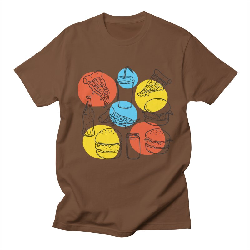 Fast Food Men's Regular T-Shirt by John D-C's Artist Shop
