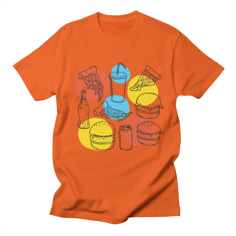 Fast Food Men's T-shirt by John D-C's Artist Shop