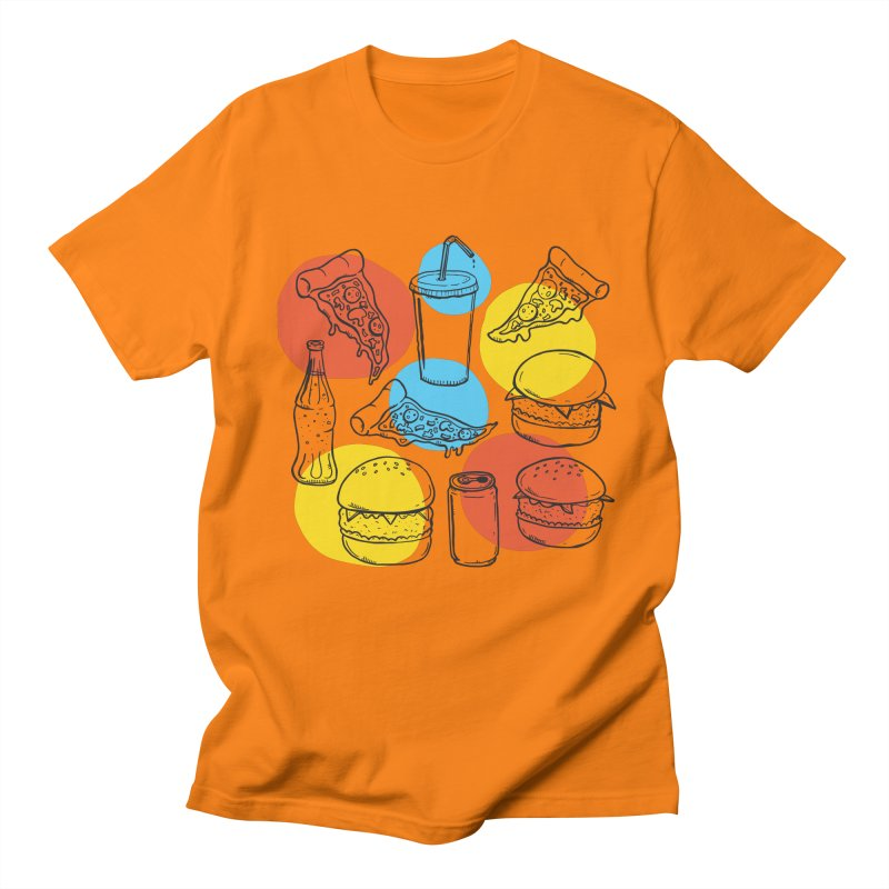 Fast Food Men's Regular T-Shirt by John D-C