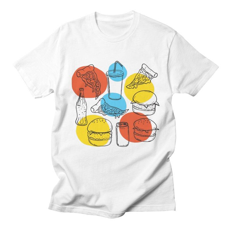 Fast Food Men's T-shirt by John D-C's Artist Shop