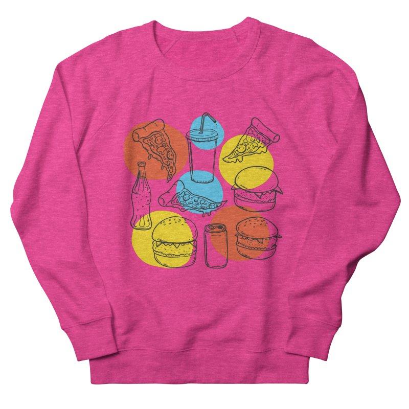 Fast Food Men's French Terry Sweatshirt by John D-C's Artist Shop