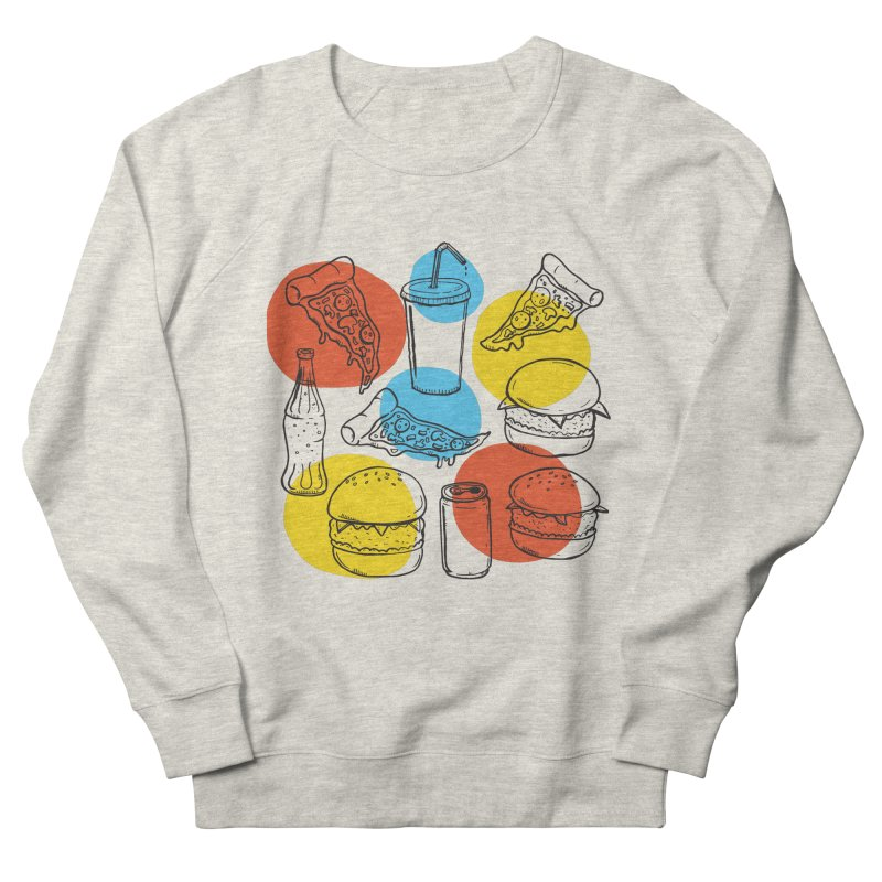 Fast Food Men's French Terry Sweatshirt by John D-C