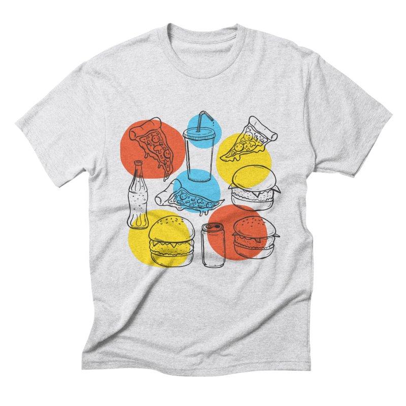 Fast Food Men's Triblend T-shirt by John D-C's Artist Shop