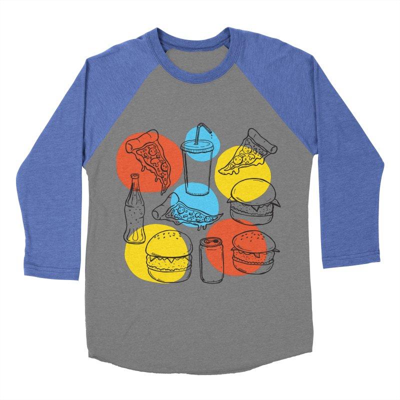 Fast Food Men's Baseball Triblend Longsleeve T-Shirt by John D-C