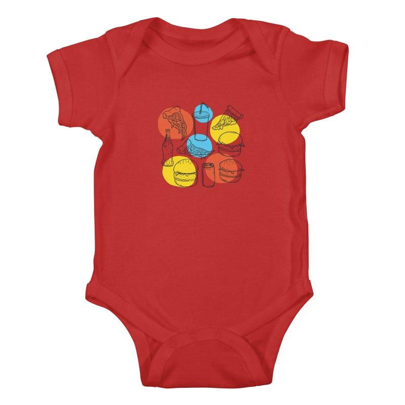 Fast Food Kids Baby Bodysuit by John D-C