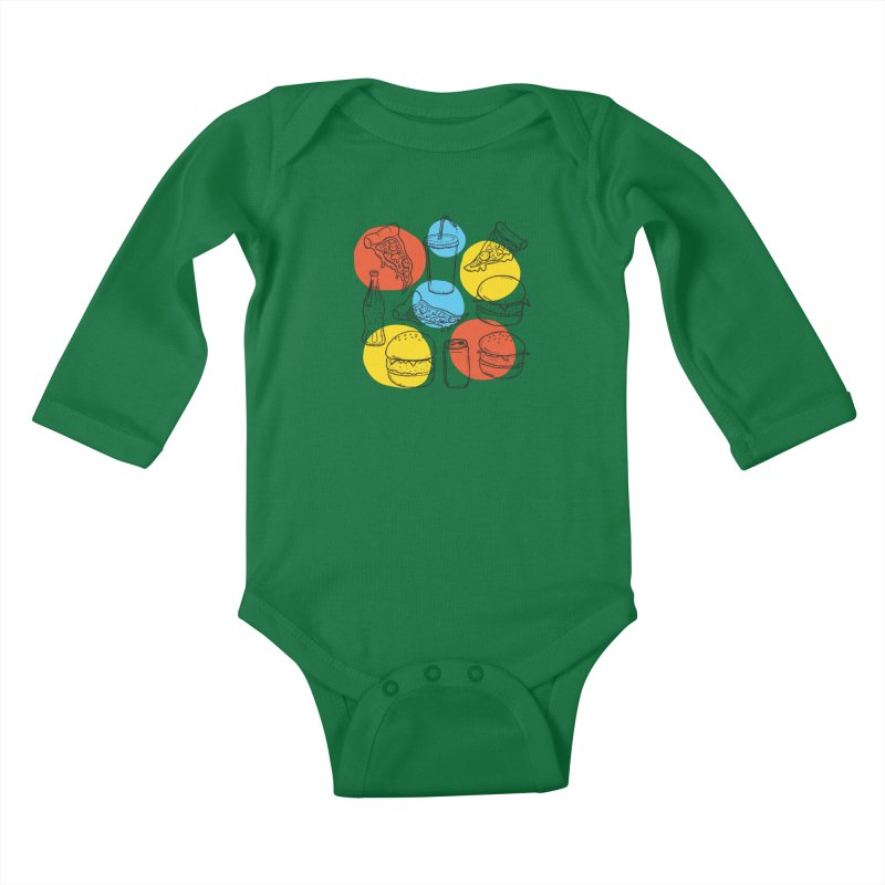 Fast Food Kids Baby Longsleeve Bodysuit by John D-C