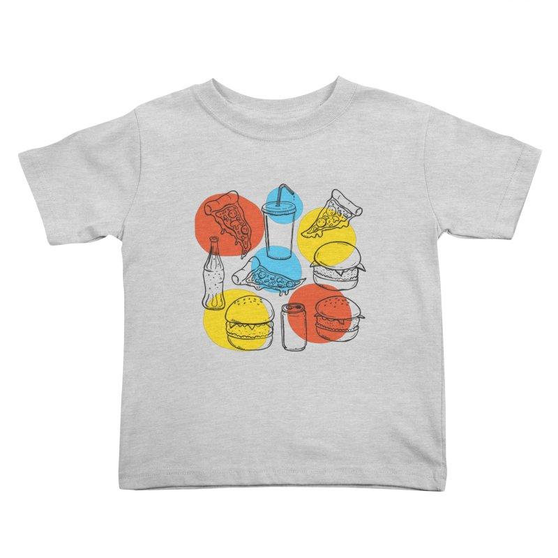 Fast Food Kids Toddler T-Shirt by John D-C
