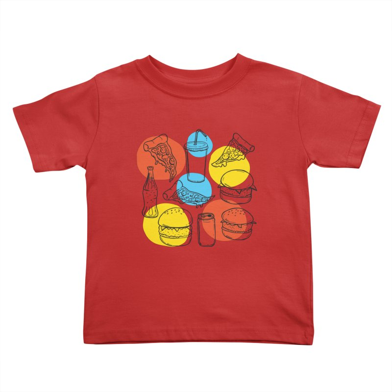 Fast Food Kids Toddler T-Shirt by John D-C