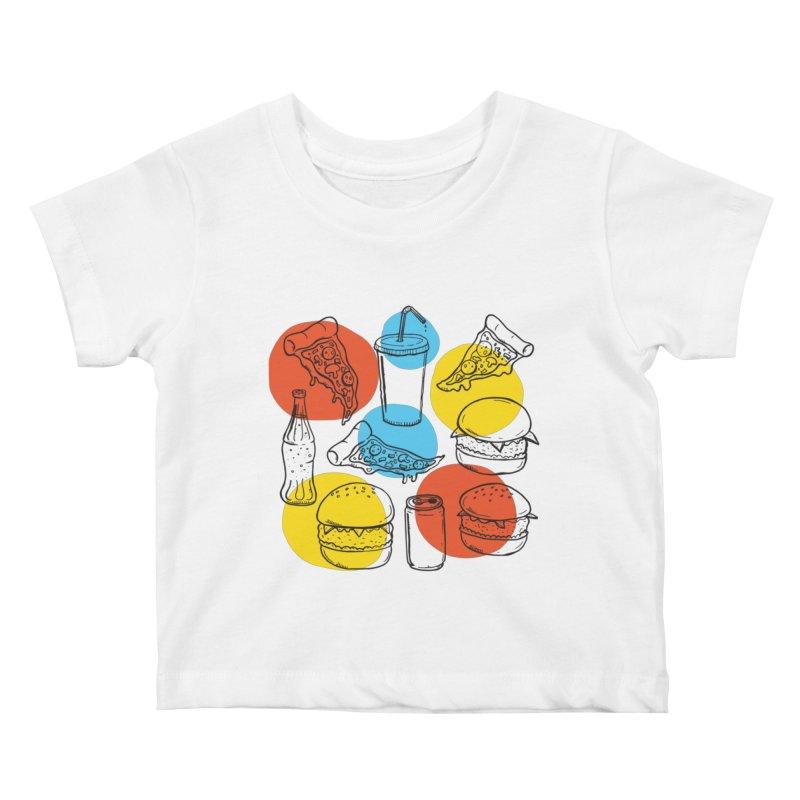 Fast Food Kids Baby T-Shirt by John D-C's Artist Shop