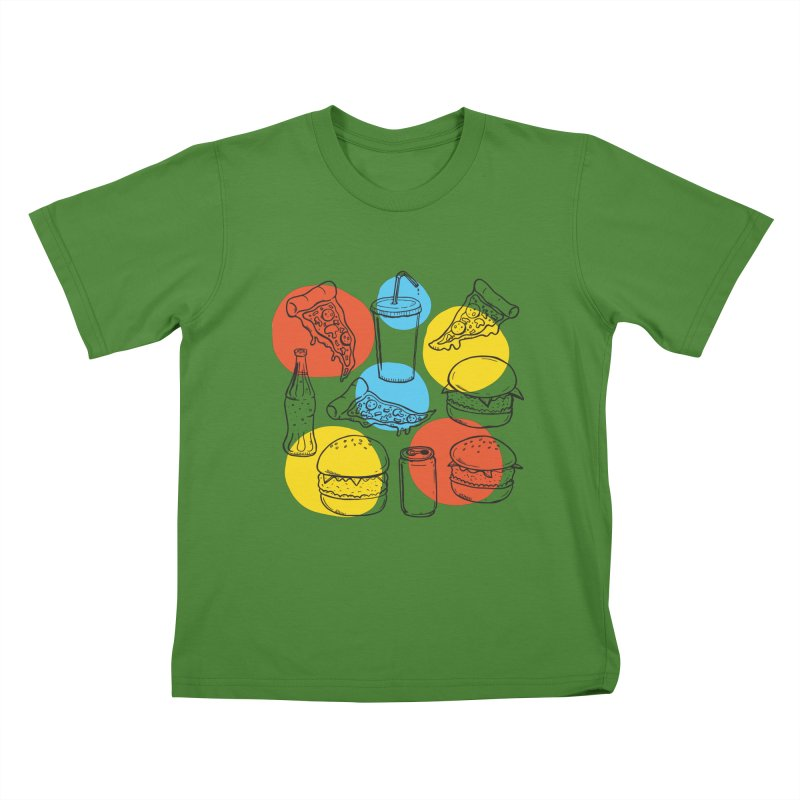 Fast Food Kids T-Shirt by John D-C's Artist Shop