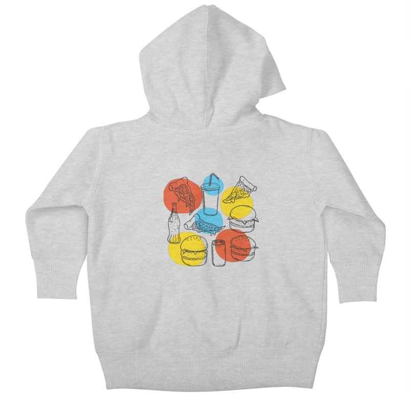 Fast Food Kids Baby Zip-Up Hoody by John D-C's Artist Shop