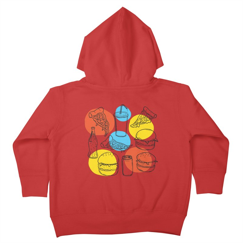 Fast Food Kids Toddler Zip-Up Hoody by John D-C's Artist Shop