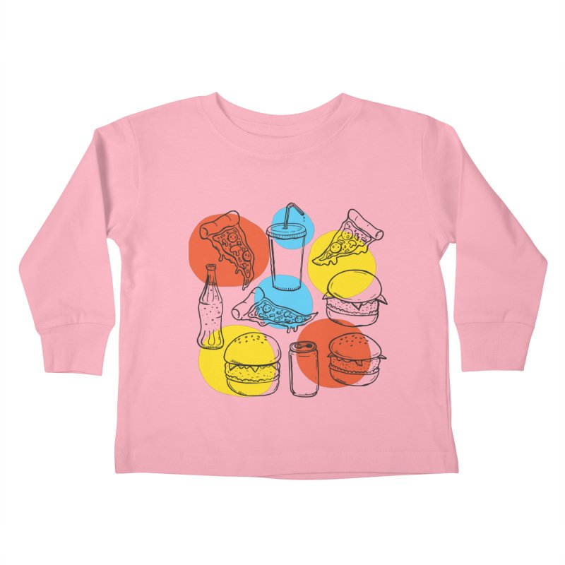 Fast Food Kids Toddler Longsleeve T-Shirt by John D-C's Artist Shop