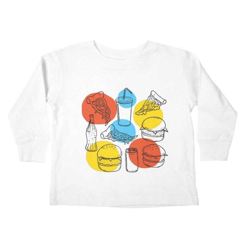 Fast Food Kids Toddler Longsleeve T-Shirt by John D-C's Artist Shop