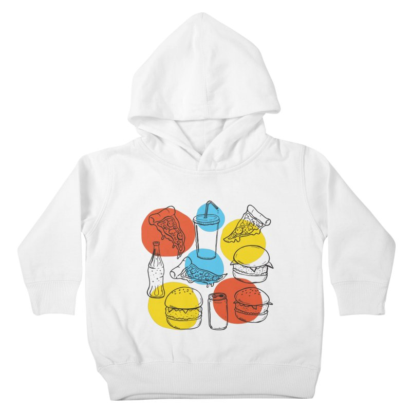 Fast Food Kids Toddler Pullover Hoody by John D-C's Artist Shop