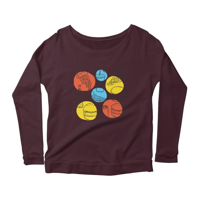 Fast Food Women's Scoop Neck Longsleeve T-Shirt by John D-C