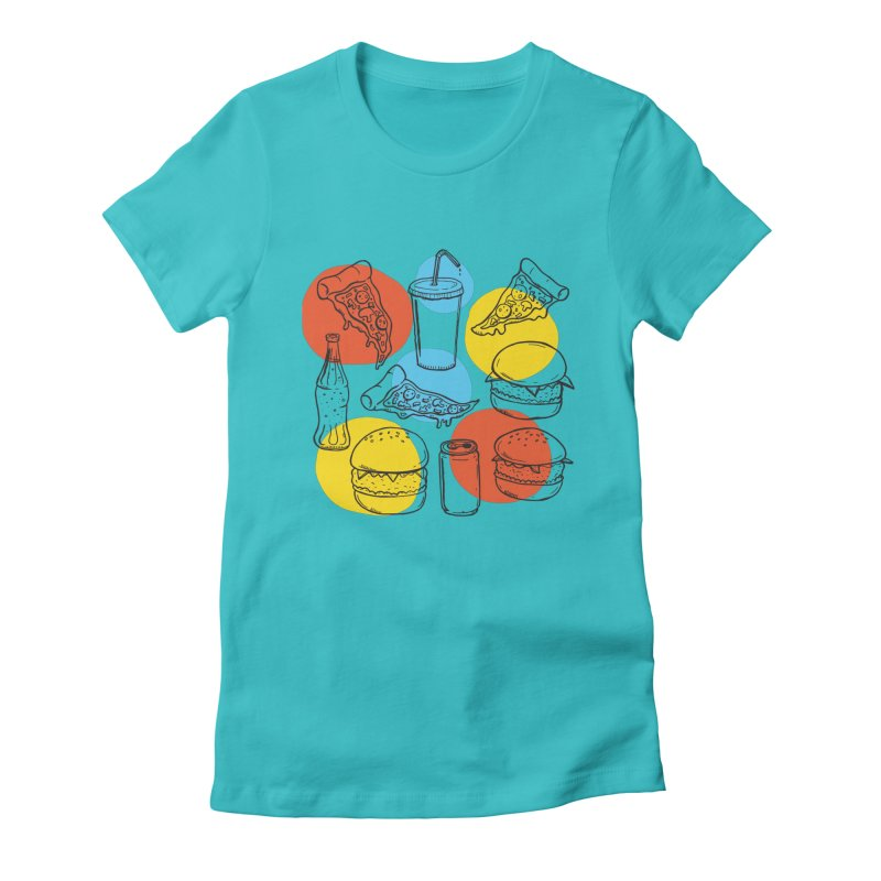 Fast Food Women's Fitted T-Shirt by John D-C