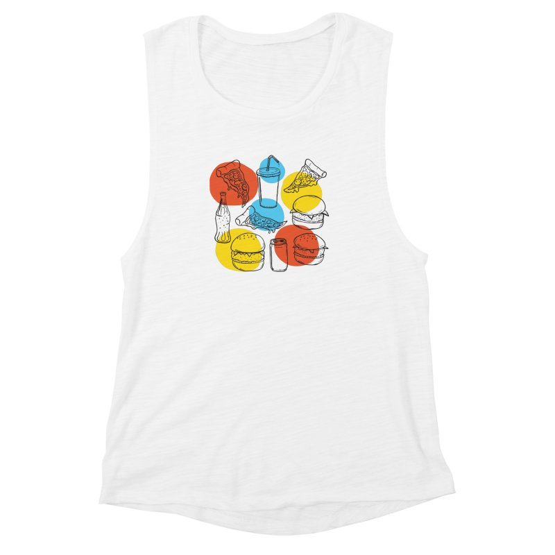 Fast Food Women's Muscle Tank by John D-C