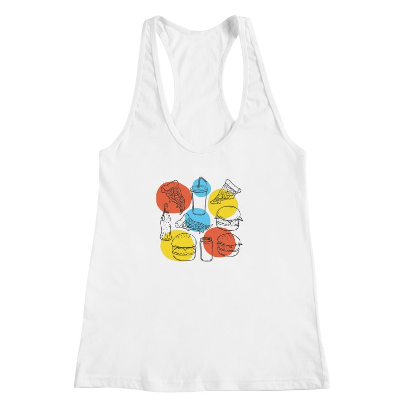 Fast Food Women's Racerback Tank by John D-C's Artist Shop
