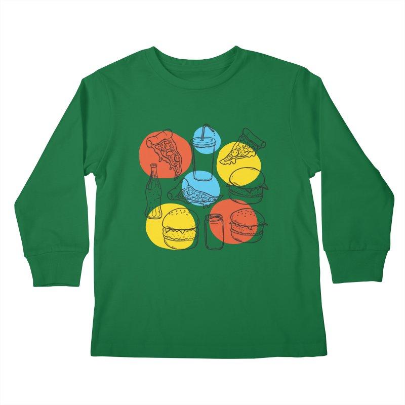Fast Food Kids Longsleeve T-Shirt by John D-C