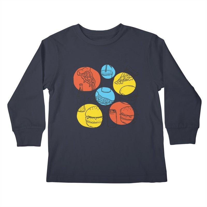 Fast Food Kids Longsleeve T-Shirt by John D-C's Artist Shop