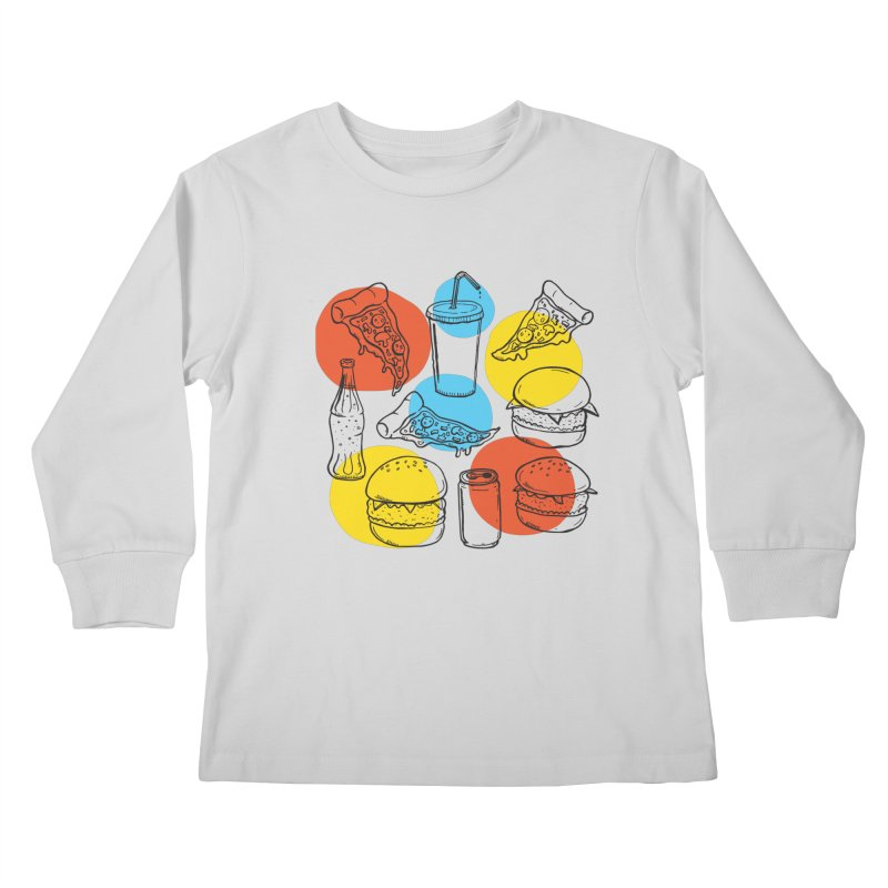 Fast Food Kids Longsleeve T-Shirt by John D-C's Artist Shop