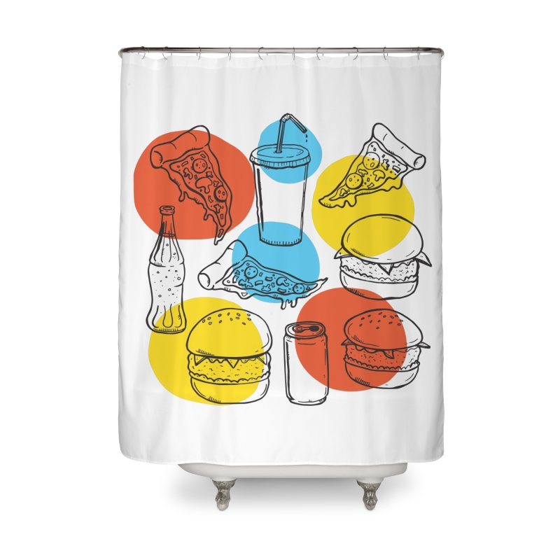 Fast Food Home Shower Curtain by John D-C