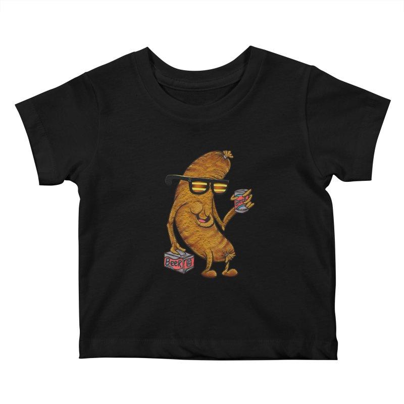 Beer Brat Kids Baby T-Shirt by JP$ Artist Shop