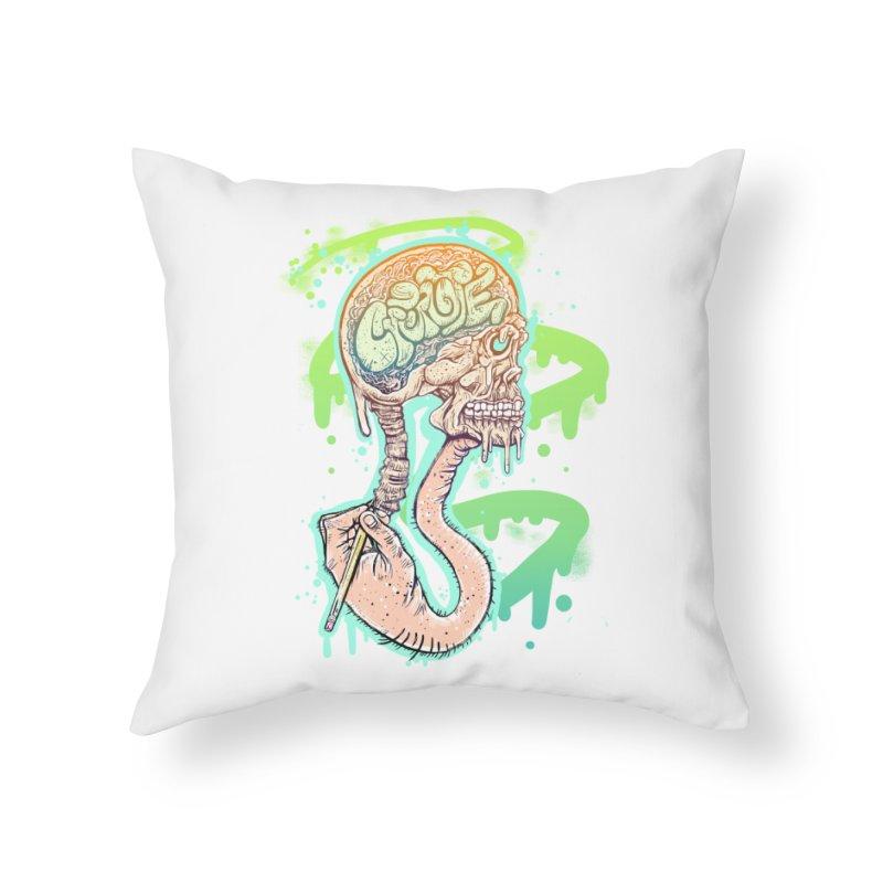 Create Home Throw Pillow by JP$ Artist Shop